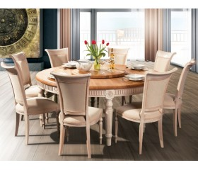BADI Solid Wood Round Dining table FL 120