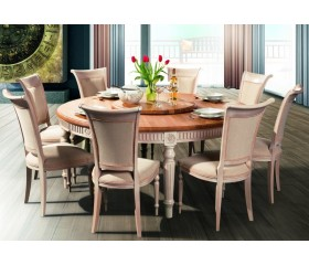 BADI Solid Wood Round Dining Table FL 180