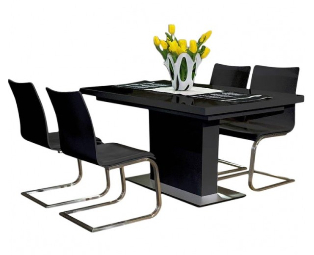 EVITA Glass Top Dining Table With Extension